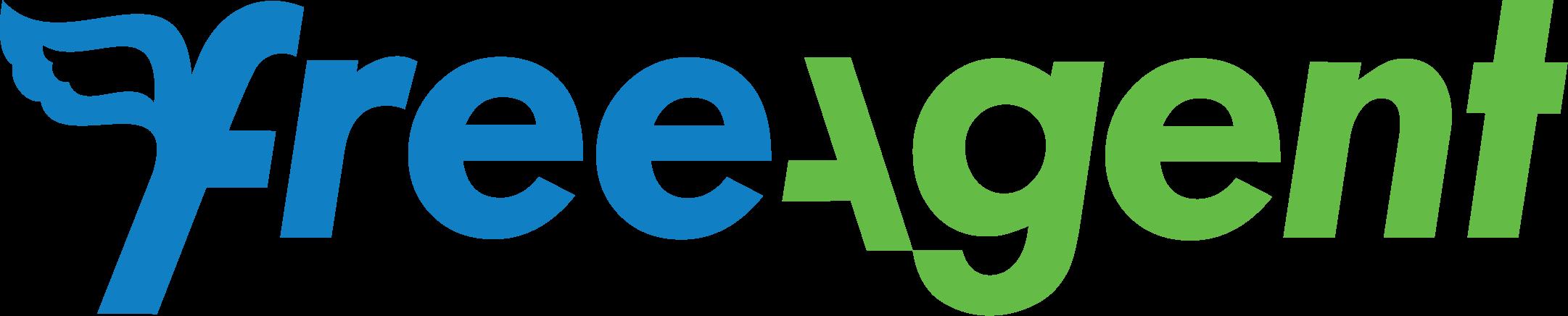Freeagent logo wordmark bluegreen CMYK
